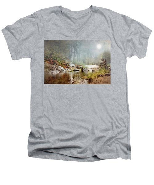 Foggy Fishin Hole Men's V-Neck T-Shirt
