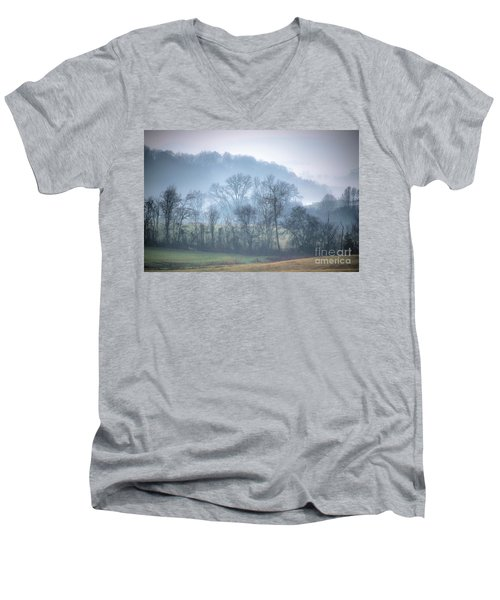 Foggy Hills Men's V-Neck T-Shirt