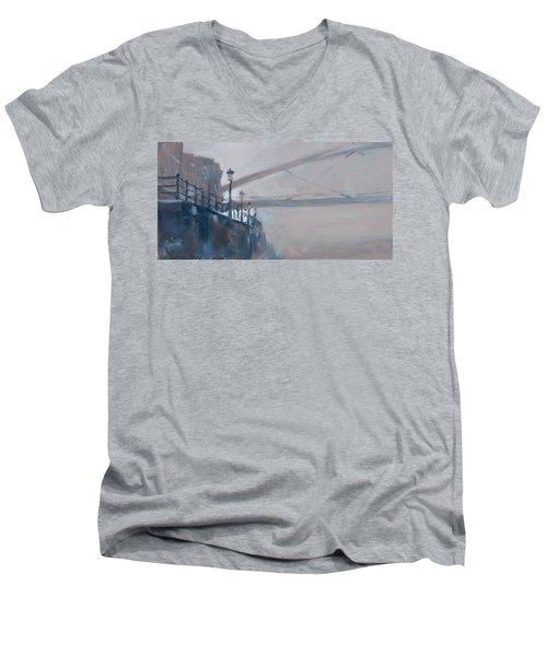 Foggy Hoeg Men's V-Neck T-Shirt by Nop Briex