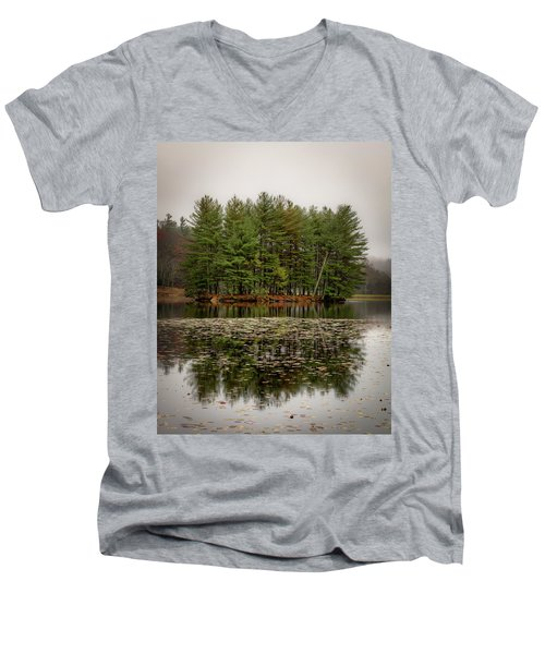 Foggy Island Reflections Men's V-Neck T-Shirt