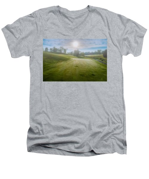 Foggy Look Back Men's V-Neck T-Shirt