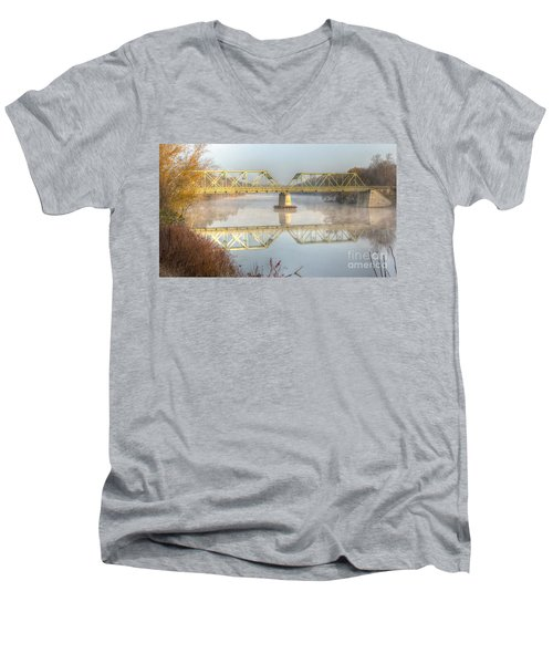 Foggy Mornin' Bridge Men's V-Neck T-Shirt