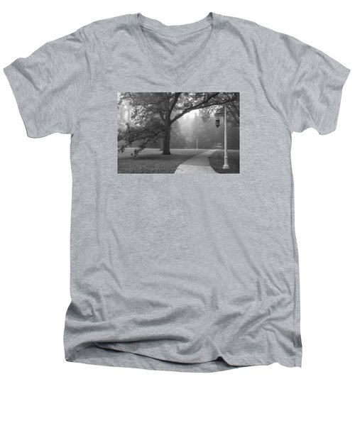 Foggy Msu Morning  Men's V-Neck T-Shirt
