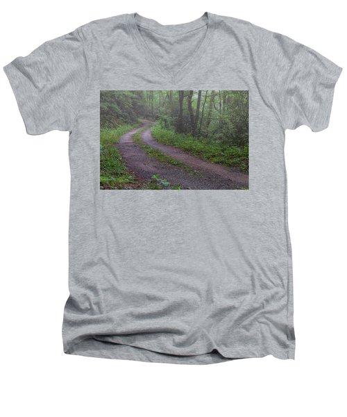 Foggy Road Men's V-Neck T-Shirt