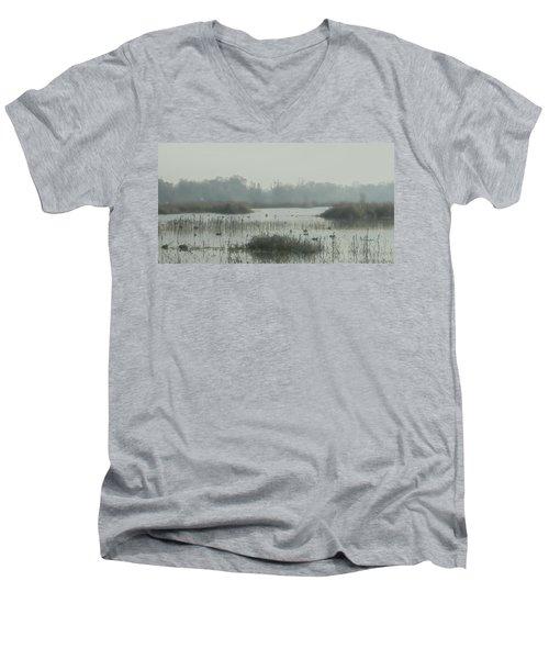 Foggy Wetlands Men's V-Neck T-Shirt