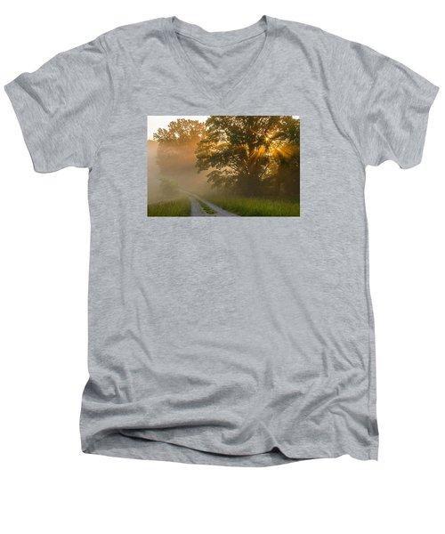 Fogy Summer Morning Men's V-Neck T-Shirt