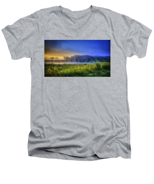 Fogy Sunrise  Men's V-Neck T-Shirt