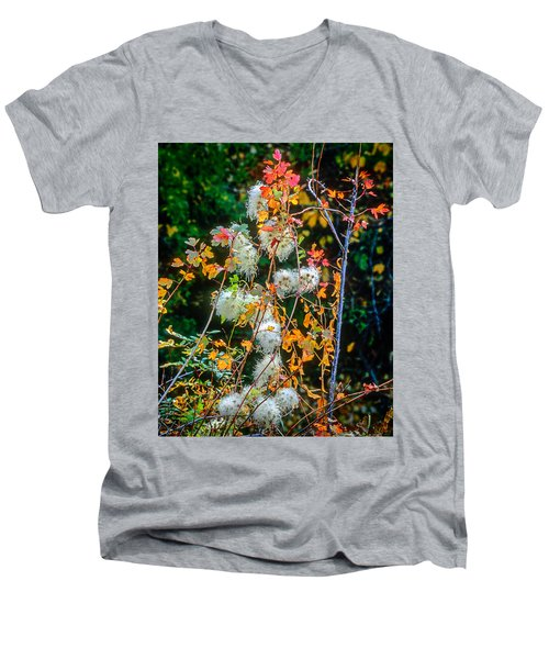 Foliage Twisted Colored Leaves Men's V-Neck T-Shirt