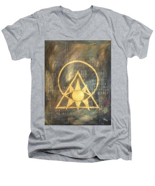 Follow The Light - Illuminati And Binary Men's V-Neck T-Shirt