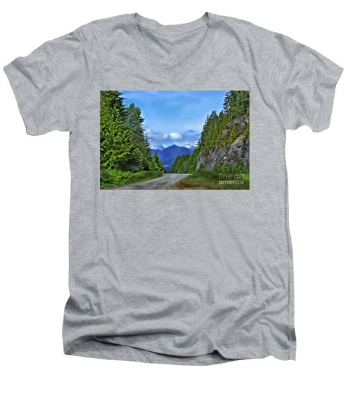 Follow The Road Men's V-Neck T-Shirt