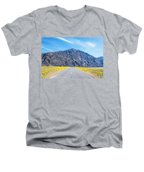 Follow The Yellow Lined Road Men's V-Neck T-Shirt