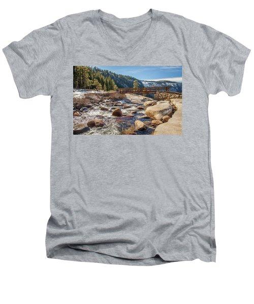 Following The Falls Men's V-Neck T-Shirt