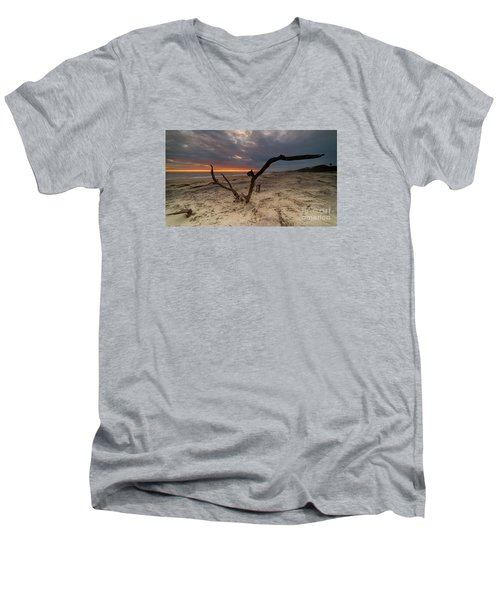 Sun Dragon  Men's V-Neck T-Shirt by Robert Loe