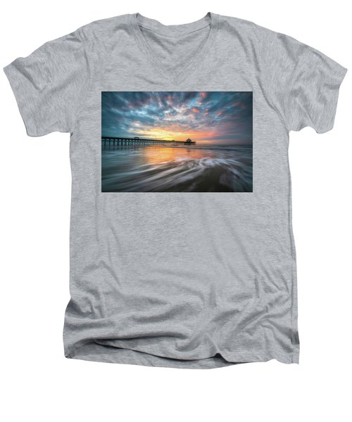 Folly Beach Sc Ocean Seascape Charleston South Carolina Scenic Landscape Men's V-Neck T-Shirt