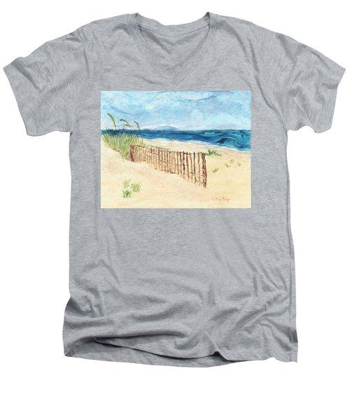 Folly Field Fence Men's V-Neck T-Shirt