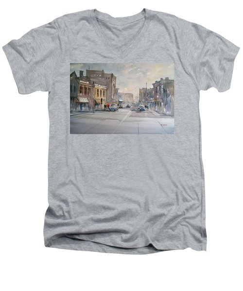 Fond Du Lac - Main Street Men's V-Neck T-Shirt