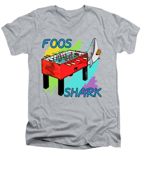 Foos Shark Men's V-Neck T-Shirt by David G Paul
