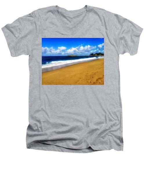 Foot Prints  Men's V-Neck T-Shirt