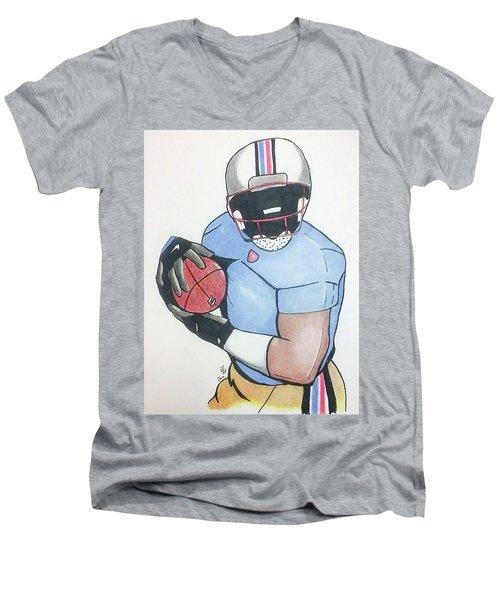Football Player Men's V-Neck T-Shirt