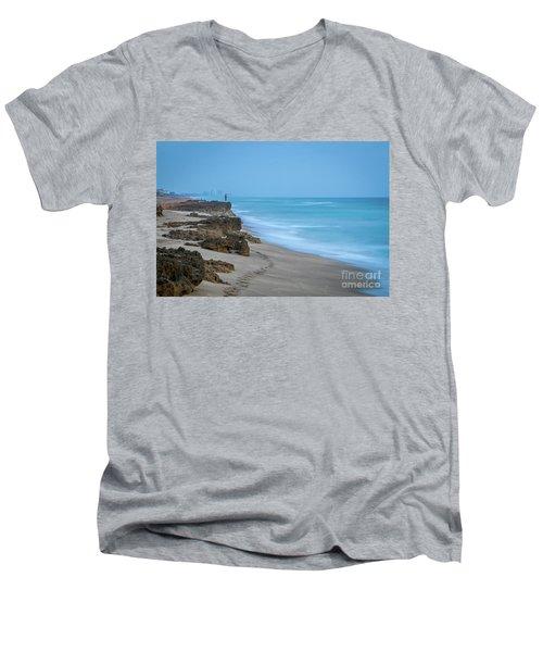 Footprints And Rocks Men's V-Neck T-Shirt