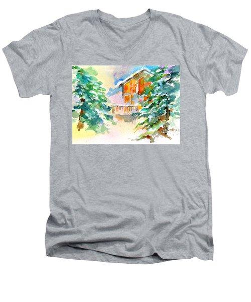 For Love Of Winter #3 Men's V-Neck T-Shirt
