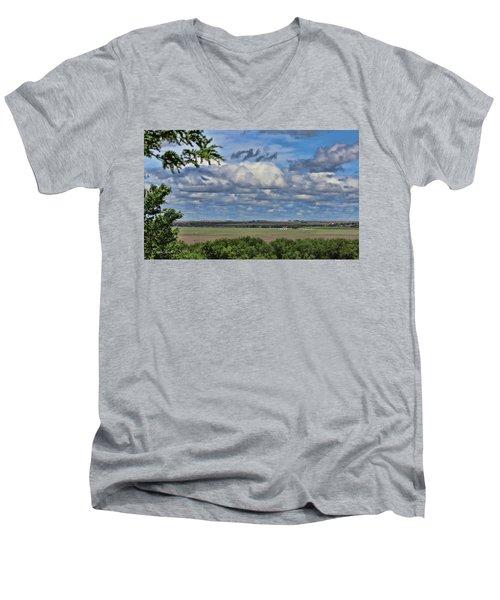 For Spacious Skies Men's V-Neck T-Shirt by Sylvia Thornton