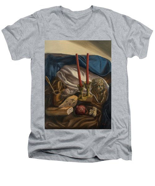 For The Bishop Of Digne Men's V-Neck T-Shirt