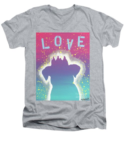 For The Love Of Pups Men's V-Neck T-Shirt by Melissa Goodrich