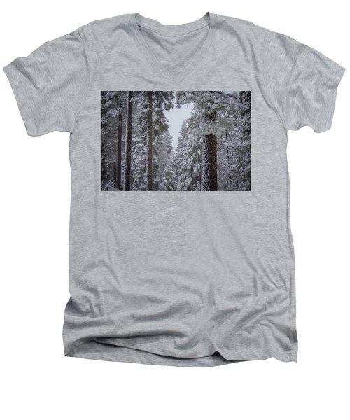 For The Love Of Snow Men's V-Neck T-Shirt