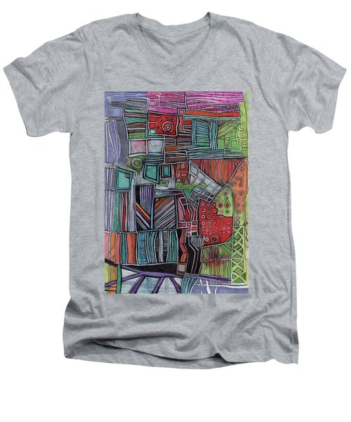 For Two Brothers Men's V-Neck T-Shirt