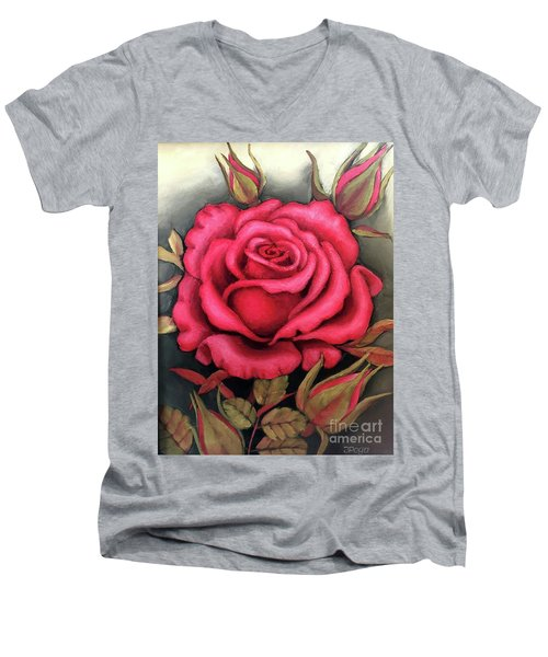 For You, The Red Rose Men's V-Neck T-Shirt
