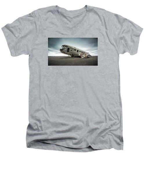 Forced Landing 2 Men's V-Neck T-Shirt by Brad Grove
