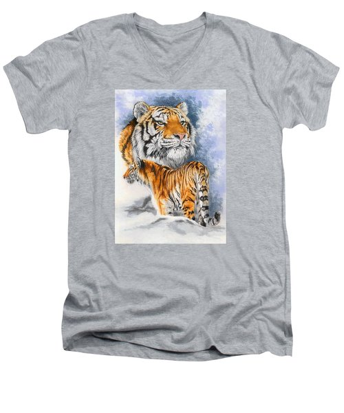 Forceful Men's V-Neck T-Shirt by Barbara Keith