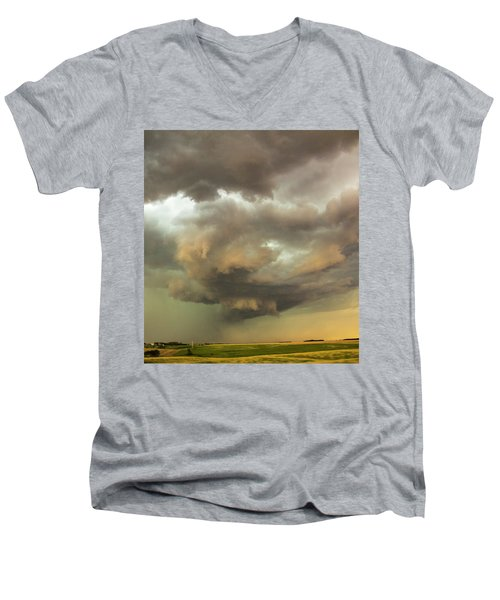 Forces Of Nebraska Nature 028 Men's V-Neck T-Shirt