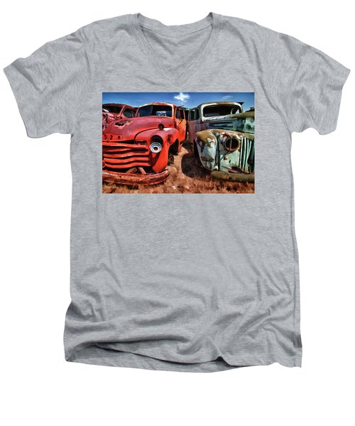 Ford And Chevy Standoff Men's V-Neck T-Shirt