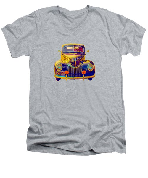 Ford Deluxe Coupe Transfer Men's V-Neck T-Shirt by Mim White