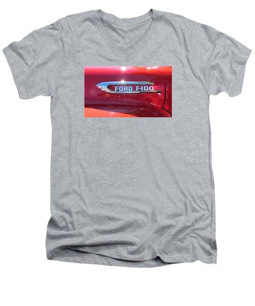 Ford F-100 Logo Men's V-Neck T-Shirt