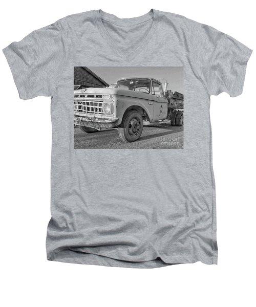 Ford F-150 Dump Truck Bw Men's V-Neck T-Shirt