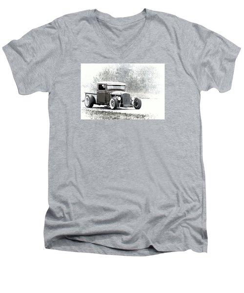 Ford Hot Rod Men's V-Neck T-Shirt by Athena Mckinzie
