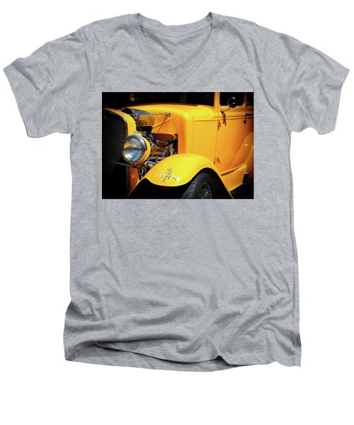 Men's V-Neck T-Shirt featuring the photograph Ford Hot-rod by Jeremy Lavender Photography