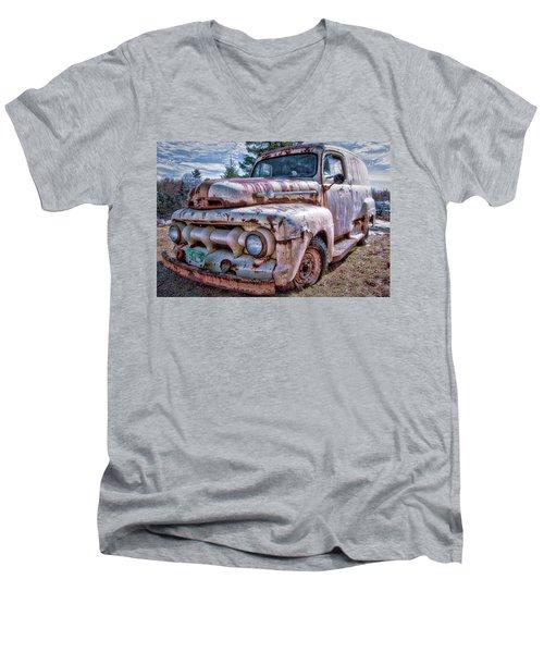 Ford Panel Truck Men's V-Neck T-Shirt