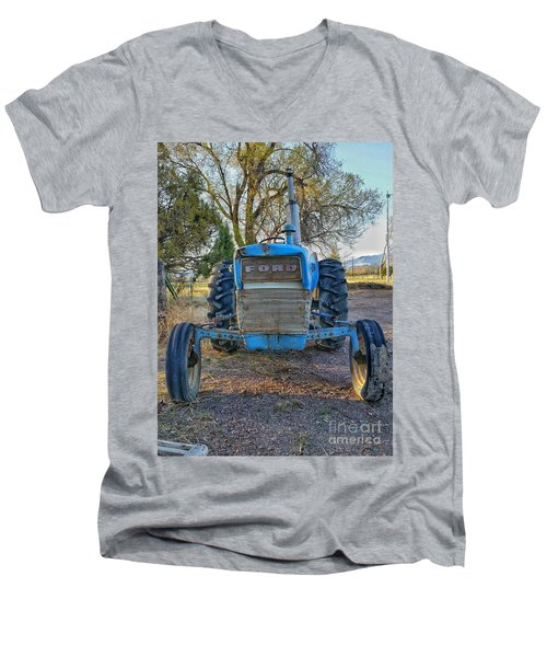 Ford Tractor Men's V-Neck T-Shirt
