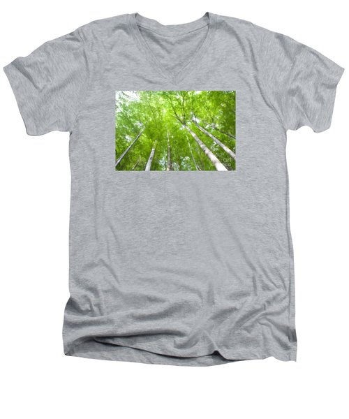 Men's V-Neck T-Shirt featuring the photograph Forest 1 by Jean Bernard Roussilhe