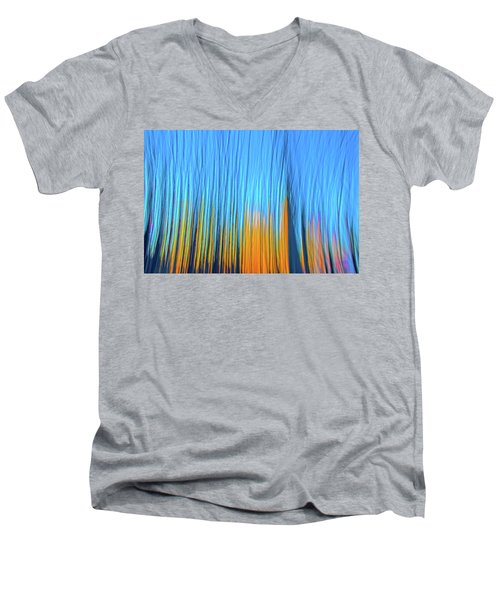 Men's V-Neck T-Shirt featuring the photograph Forest Fire by Tony Beck
