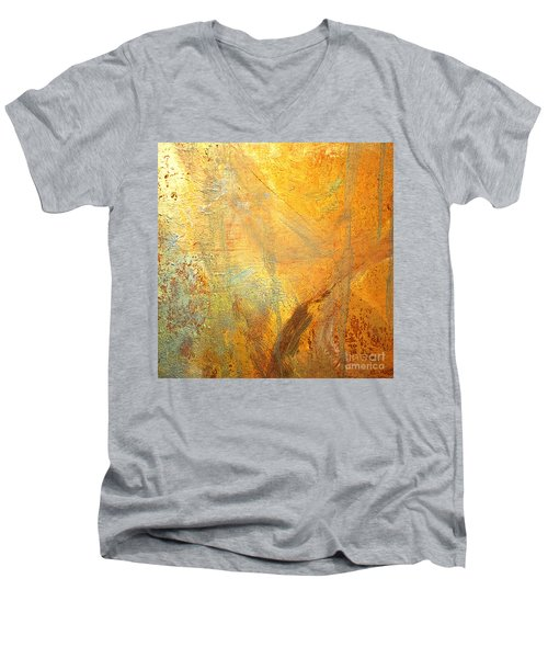 Forest Gold Men's V-Neck T-Shirt by Michael Rock