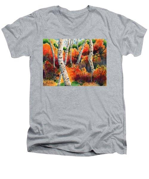 Forest In Color Men's V-Neck T-Shirt
