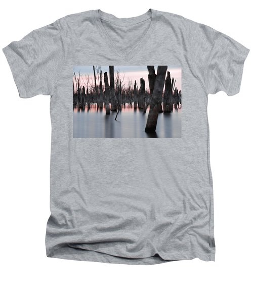Men's V-Neck T-Shirt featuring the photograph Forest In The Water by Jennifer Ancker