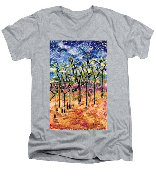 Forest Men's V-Neck T-Shirt