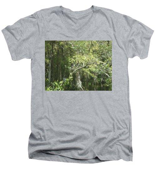 Forest On A Swamp Men's V-Neck T-Shirt