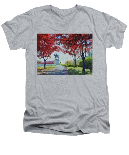 Forest Park Autumn Colors Men's V-Neck T-Shirt